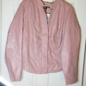 TORRID Soft Pink Moto Jacket